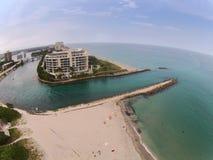 沿海入口在博察Raton,佛罗里达 图库摄影