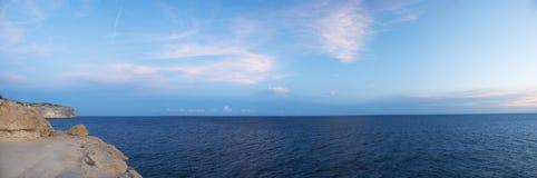 沿海全景 库存照片