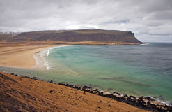 沿海冰岛场面 库存图片