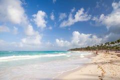 沿海加勒比风景 大西洋顶视图 免版税库存图片