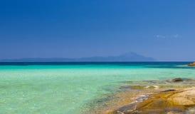 沿海在夏天 免版税库存照片