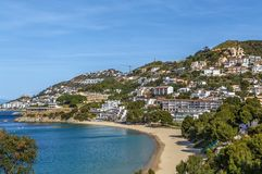沿海在玫瑰区域,西班牙 库存照片