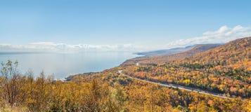沿海场面全景在Cabot足迹的 免版税库存图片