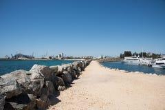 沿海场面在Fremantle 库存图片