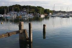 沿海场面,南布里坦尼,法国 免版税图库摄影