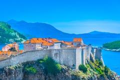 沿海城市杜布罗夫尼克在克罗地亚,欧洲 免版税库存照片