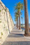 沿海城市的城堡 库存图片