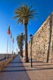 沿海城市的城堡 免版税库存图片