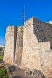 沿海城市的城堡 图库摄影