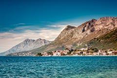 沿海城市, Gradac,位于南克罗地亚,达尔马提亚 库存图片