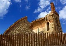 沿海塔castillo de圣安德烈斯城堡在特内里费岛 免版税库存图片