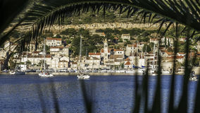 沿海小镇 库存图片