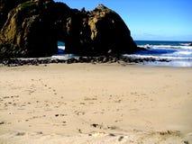 沿海岩层 免版税库存图片