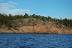 沿海岩石 图库摄影