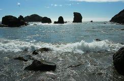 沿海岩石 免版税库存照片