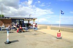 沿海岸区咖啡馆, Mablethorpe 免版税库存图片