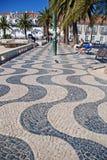 沿海岸区在卡斯卡伊斯,葡萄牙 图库摄影