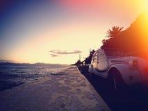 沿海岸区在希腊 免版税图库摄影