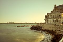 沿海岸区康斯坦察罗马尼亚 免版税库存图片