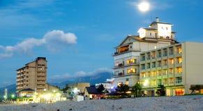沿海岸区的旅馆,米子市,日本 免版税图库摄影