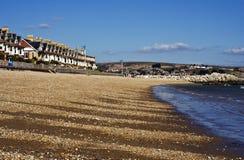 沿海岸区weymouth 免版税库存图片