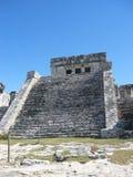 沿海岸玛雅墨西哥废墟 免版税图库摄影