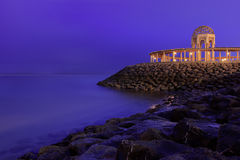 沿海岸眺望台 图库摄影
