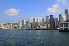 沿海岸线的香港地平线 图库摄影