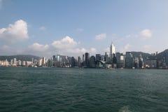 沿海岸线的香港地平线 库存照片