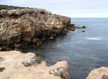 沿海峭壁 免版税库存照片