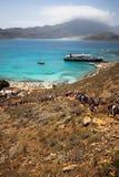 沿海希腊,希腊的美好的图片 免版税库存图片