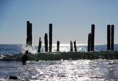 沿海废墟 免版税库存图片