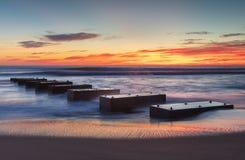 沿海日出唠叨头北卡罗来纳 免版税库存照片