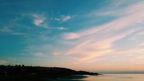 沿海日落 库存图片