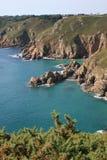 沿海根西岛岩石 免版税库存图片