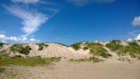 沿海沙丘在欧洲 免版税库存图片