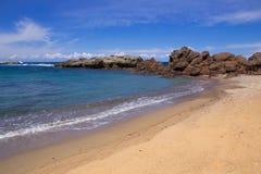 沿海海滩和海视图 库存照片