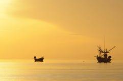 沿海渔业小船 免版税库存照片