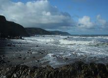 沿海湿岩石018 库存照片