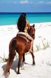 沿海滩墨西哥 库存照片