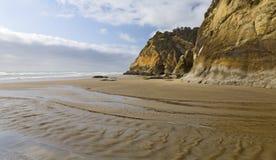 沿海滩小河水 免版税库存图片