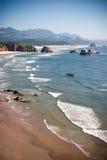 沿海滩海岸俄勒冈 免版税库存照片