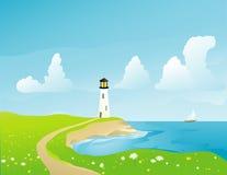 沿海灯塔 库存图片