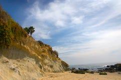 沿海的峭壁 库存照片