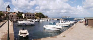 沿海盖帽Corse风景和森林  免版税库存照片