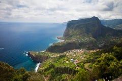 沿海看法在马德拉岛 免版税库存图片