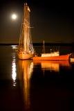 沿海缅因晚上 库存照片