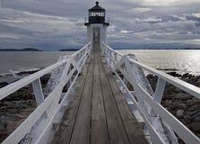 沿海缅因灯塔 库存图片