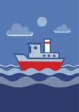 沿海航船 免版税库存图片