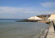 沿海英国海边城镇 免版税库存照片